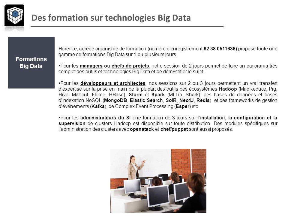 Des formation sur technologies Big Data