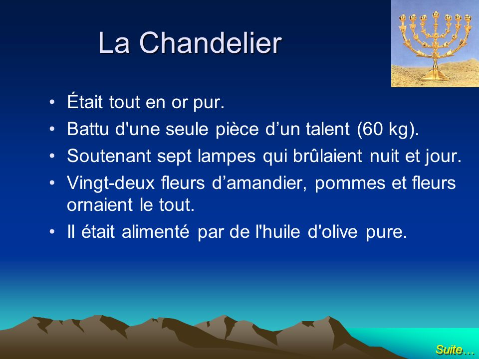 La Chandelier Était tout en or pur.