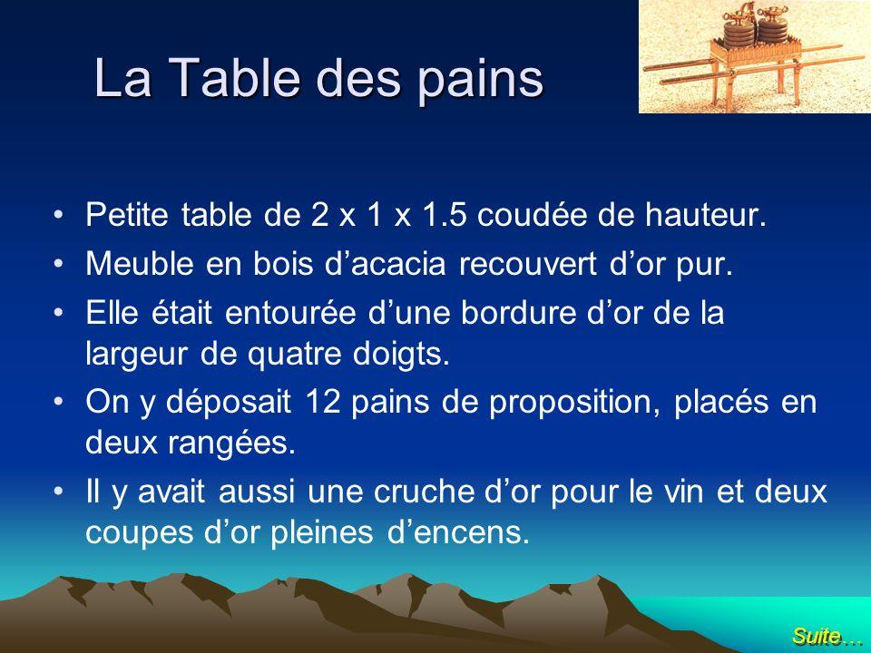 La Table des pains Petite table de 2 x 1 x 1.5 coudée de hauteur.