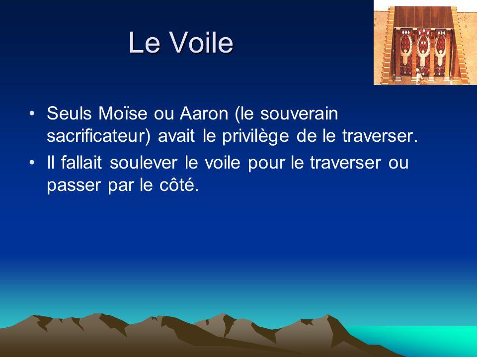 Le Voile Seuls Moïse ou Aaron (le souverain sacrificateur) avait le privilège de le traverser.