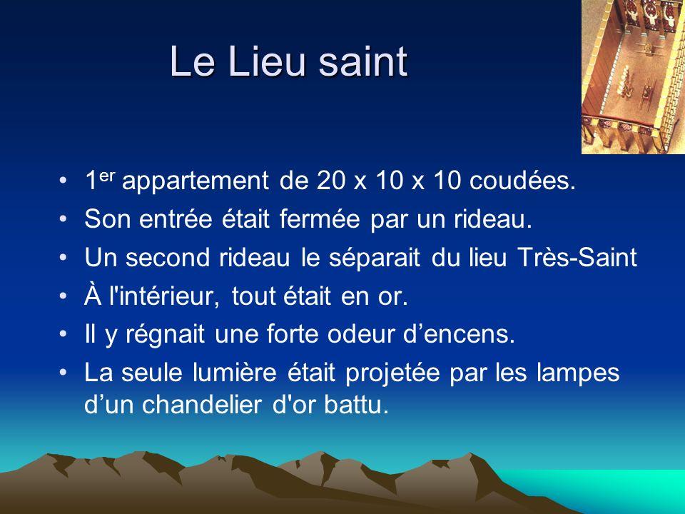 Le Lieu saint 1er appartement de 20 x 10 x 10 coudées.