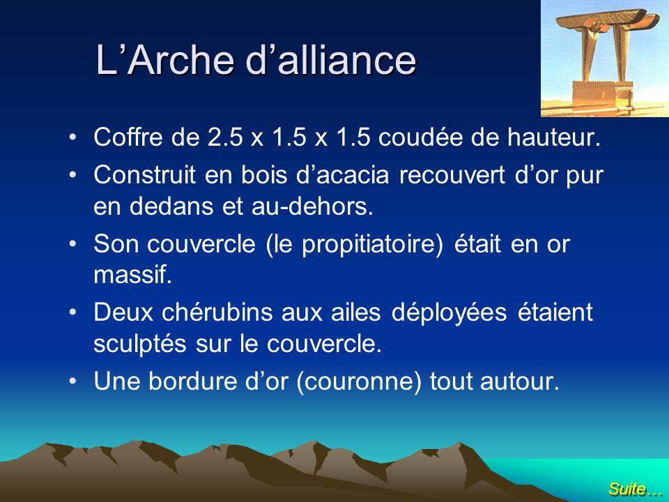 L'Arche d'alliance Coffre de 2.5 x 1.5 x 1.5 coudée de hauteur.