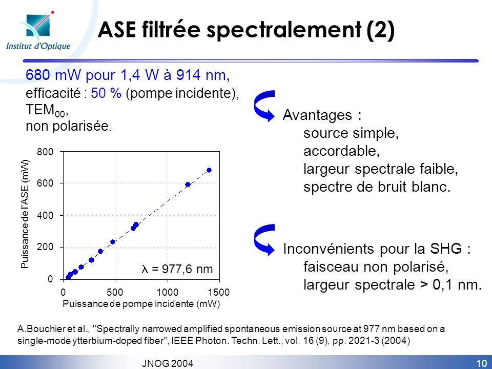 ASE filtrée spectralement (2)