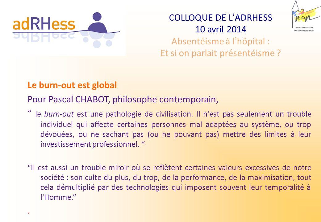 Pour Pascal CHABOT, philosophe contemporain,