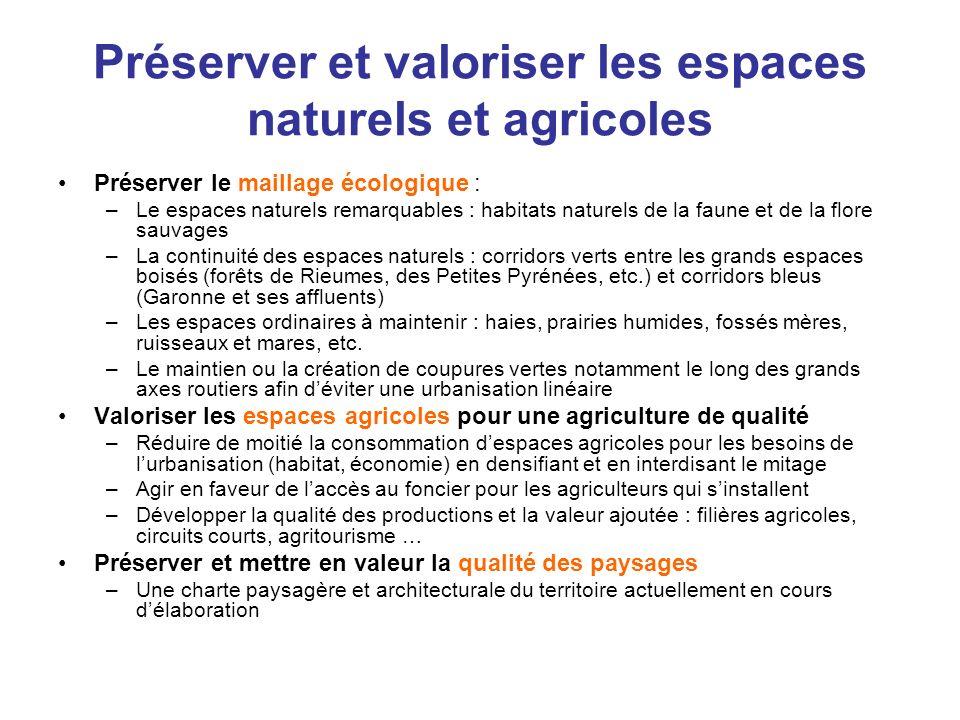 Préserver et valoriser les espaces naturels et agricoles