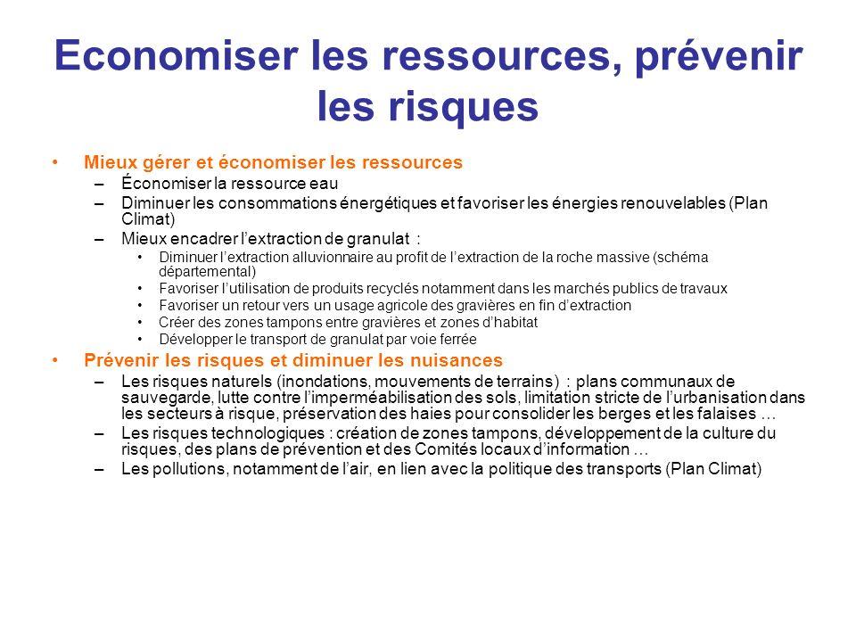 Economiser les ressources, prévenir les risques
