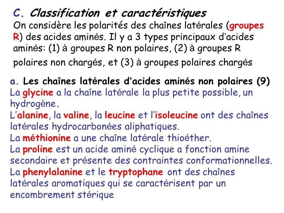 C. Classification et caractéristiques