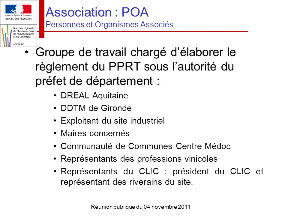 Association : POA Personnes et Organismes Associés