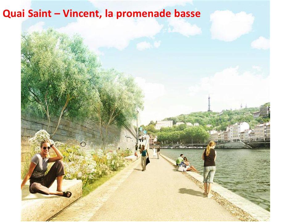 Quai Saint – Vincent, la promenade basse