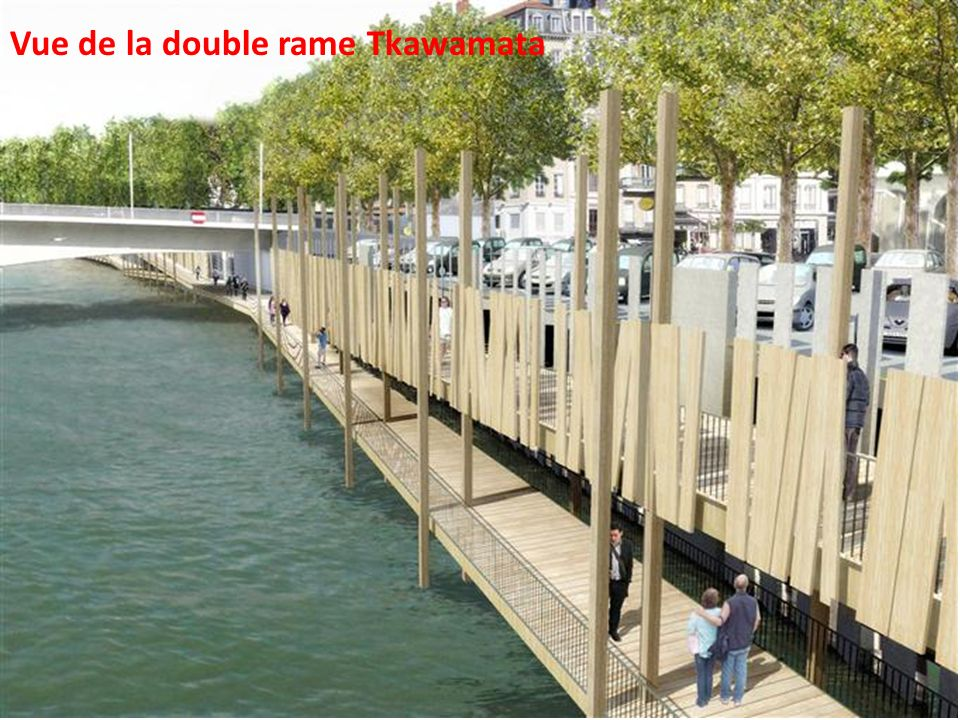 Vue de la double rame Tkawamata