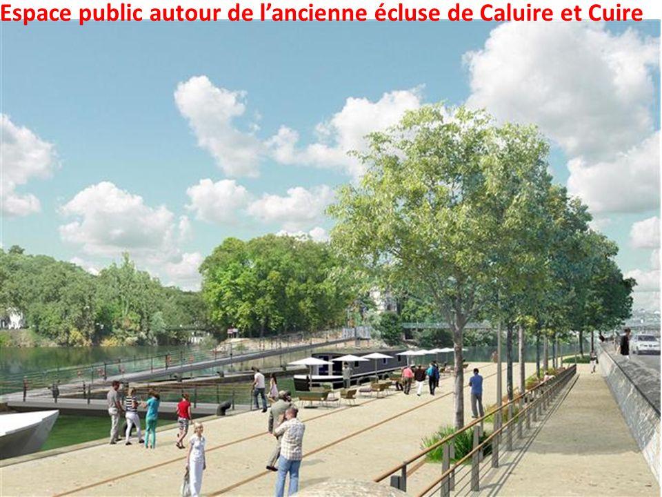 Espace public autour de l'ancienne écluse de Caluire et Cuire