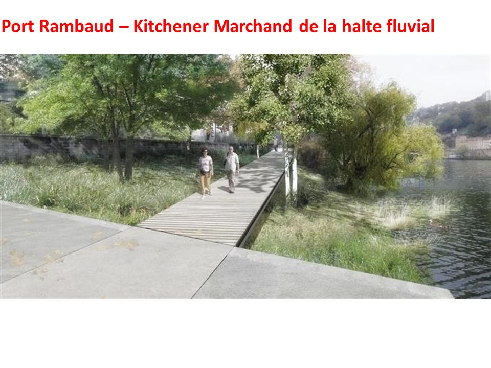 Port Rambaud – Kitchener Marchand de la halte fluvial