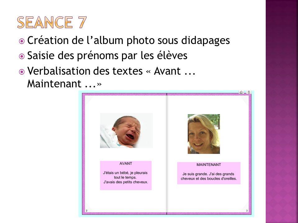 SEANCE 7 Création de l'album photo sous didapages