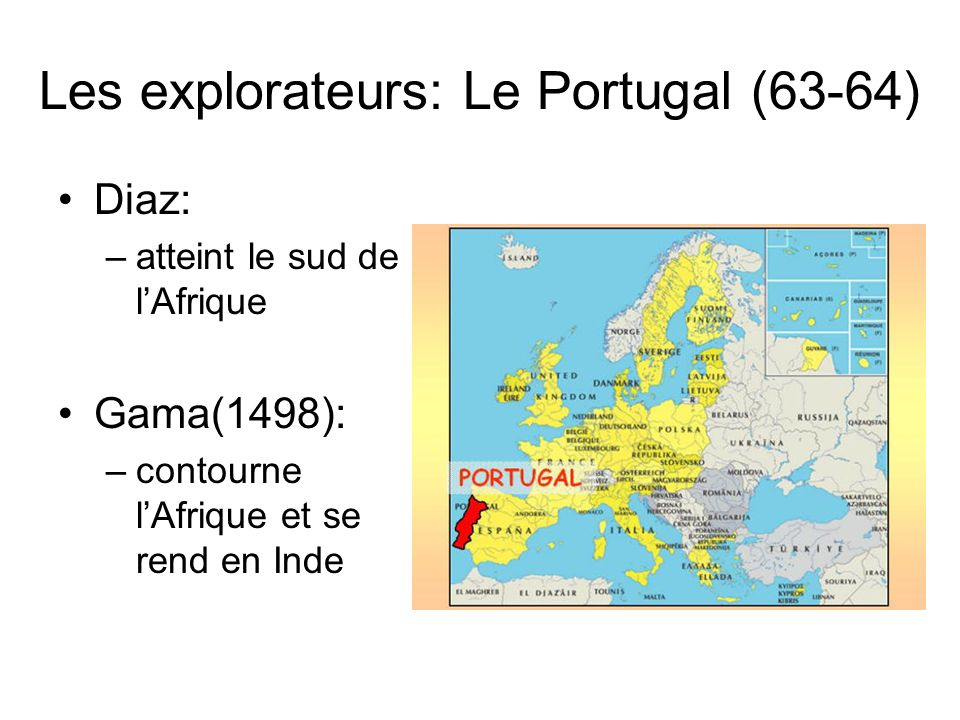 Les explorateurs: Le Portugal (63-64)