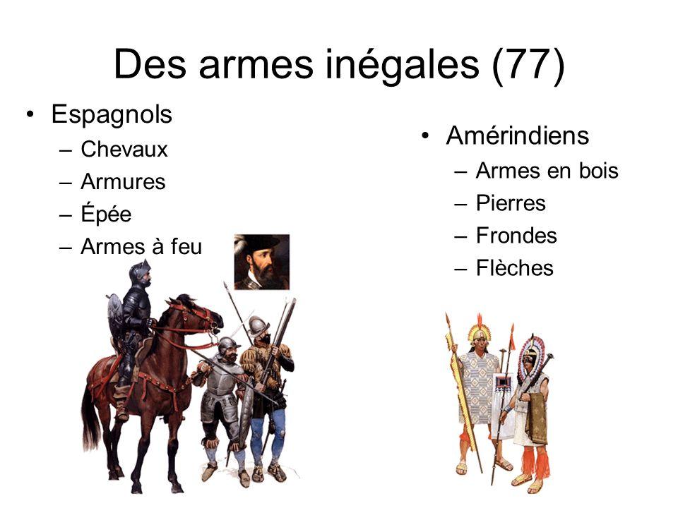 Des armes inégales (77) Espagnols Amérindiens Chevaux Armures