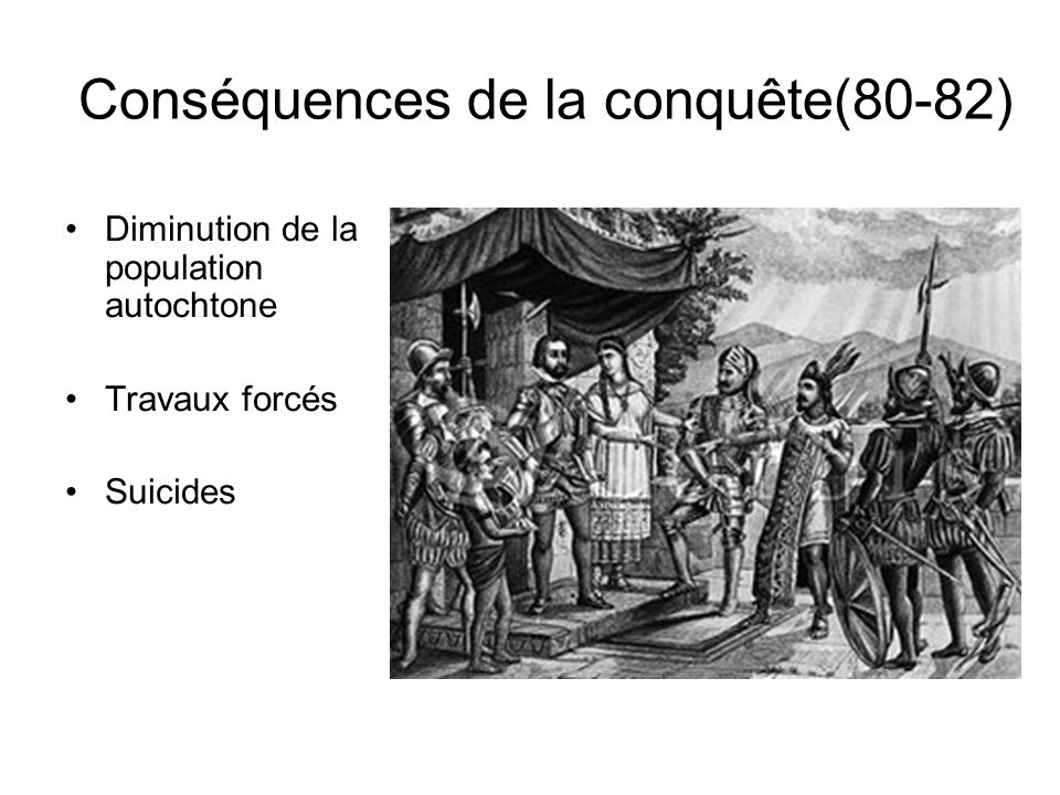 Conséquences de la conquête(80-82)
