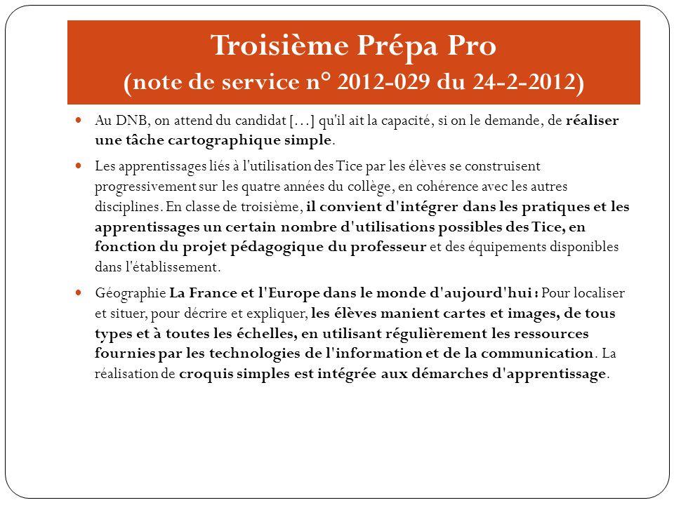 Troisième Prépa Pro (note de service n° 2012-029 du 24-2-2012)