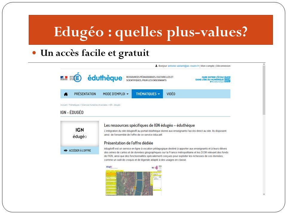 Edugéo : quelles plus-values