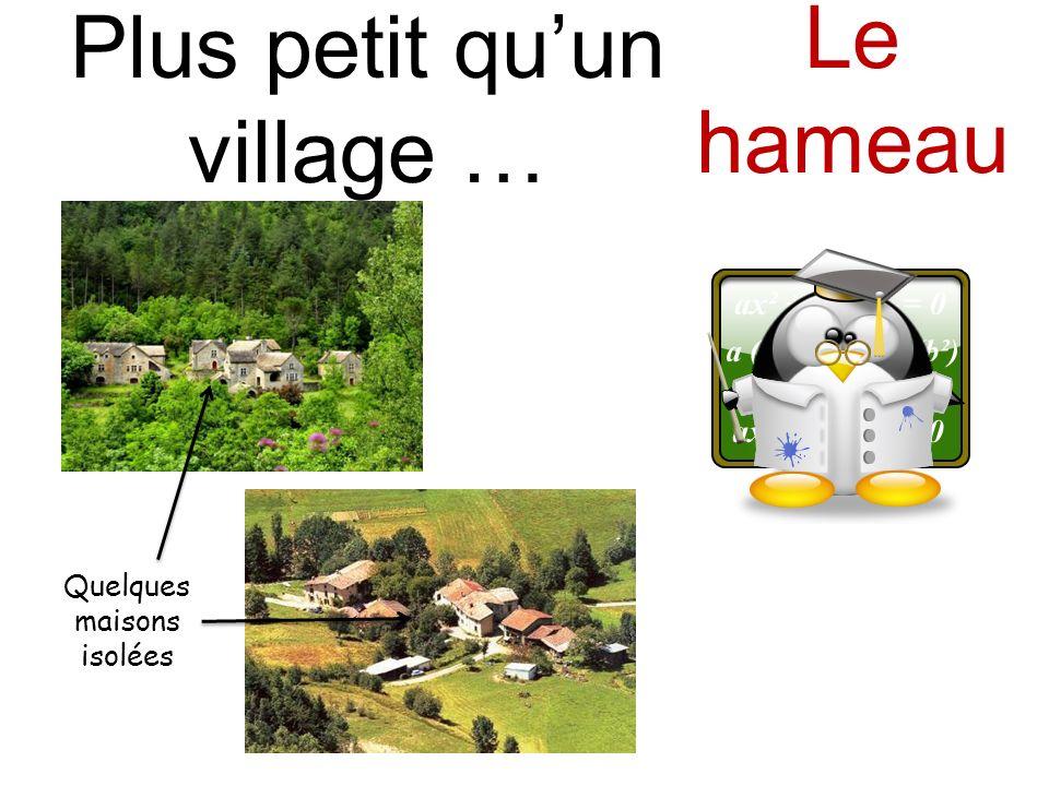 Quelques maisons isolées