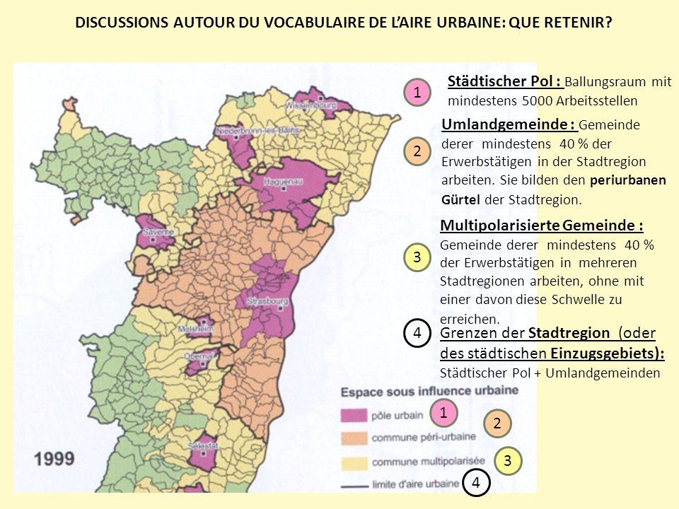 DISCUSSIONS AUTOUR DU VOCABULAIRE DE L'AIRE URBAINE: QUE RETENIR