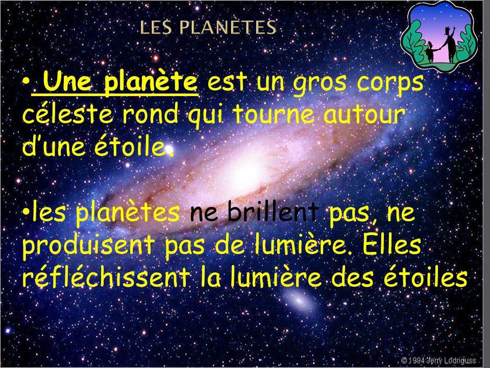 LES planètes Une planète est un gros corps céleste rond qui tourne autour d'une étoile.