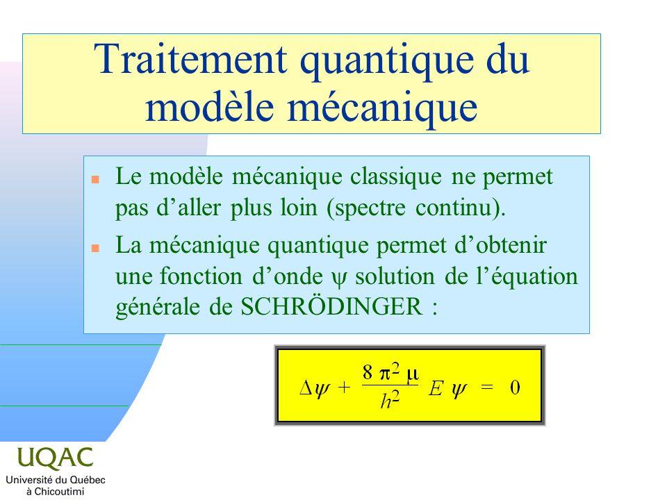 Traitement quantique du modèle mécanique