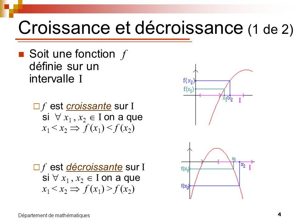 Croissance et décroissance (1 de 2)