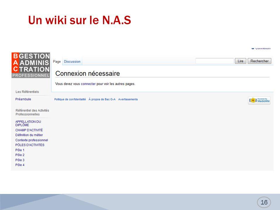 Un wiki sur le N.A.S