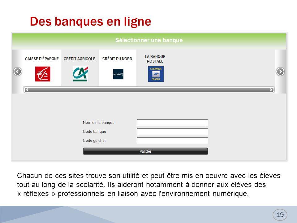 Des banques en ligne