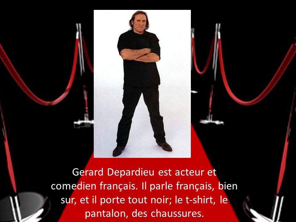 Gerard Depardieu est acteur et comedien français