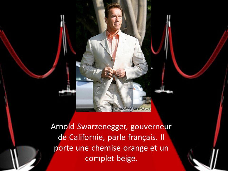 Arnold Swarzenegger, gouverneur de Californie, parle français