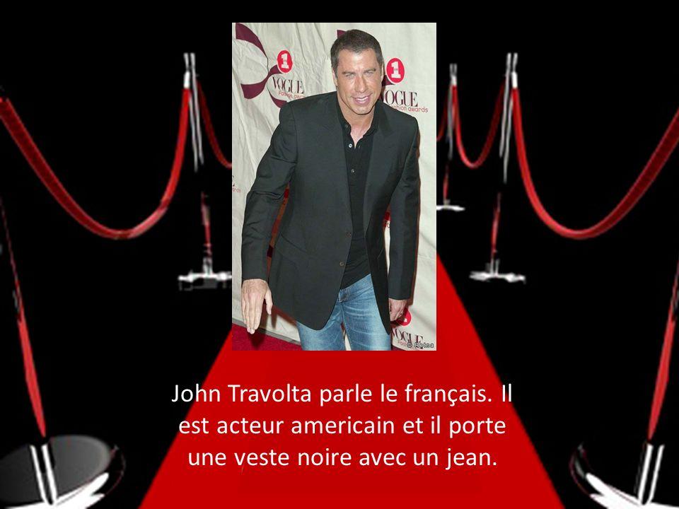 John Travolta parle le français