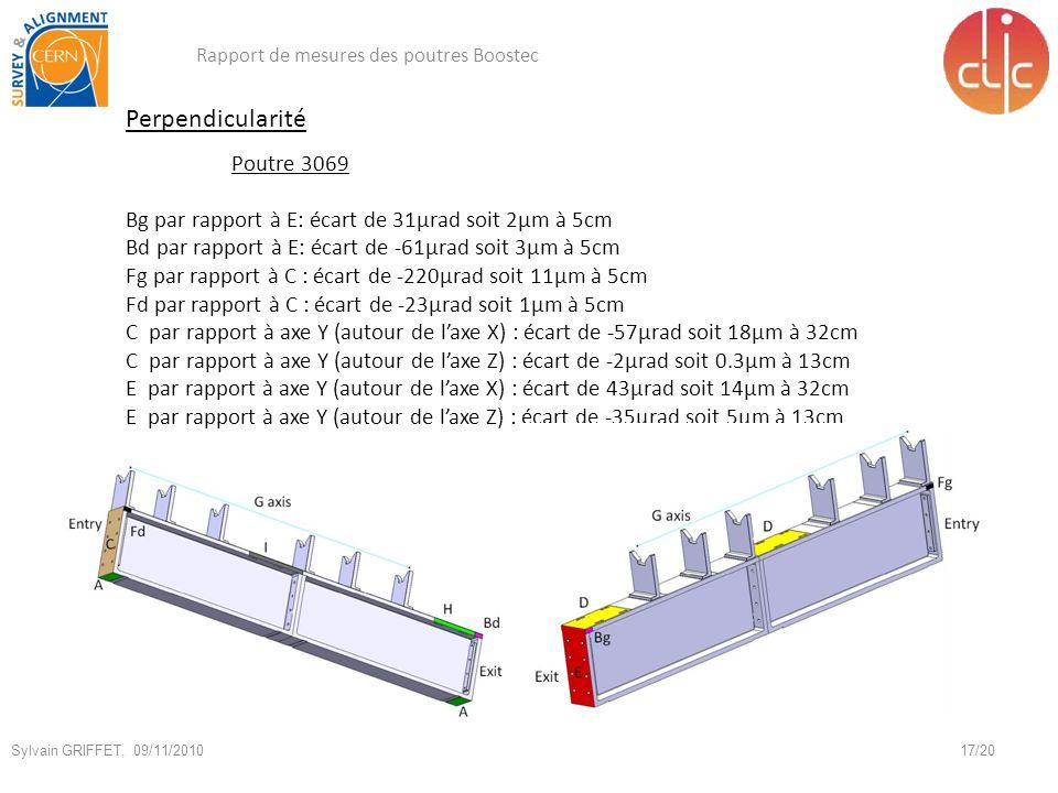Perpendicularité Poutre 3069