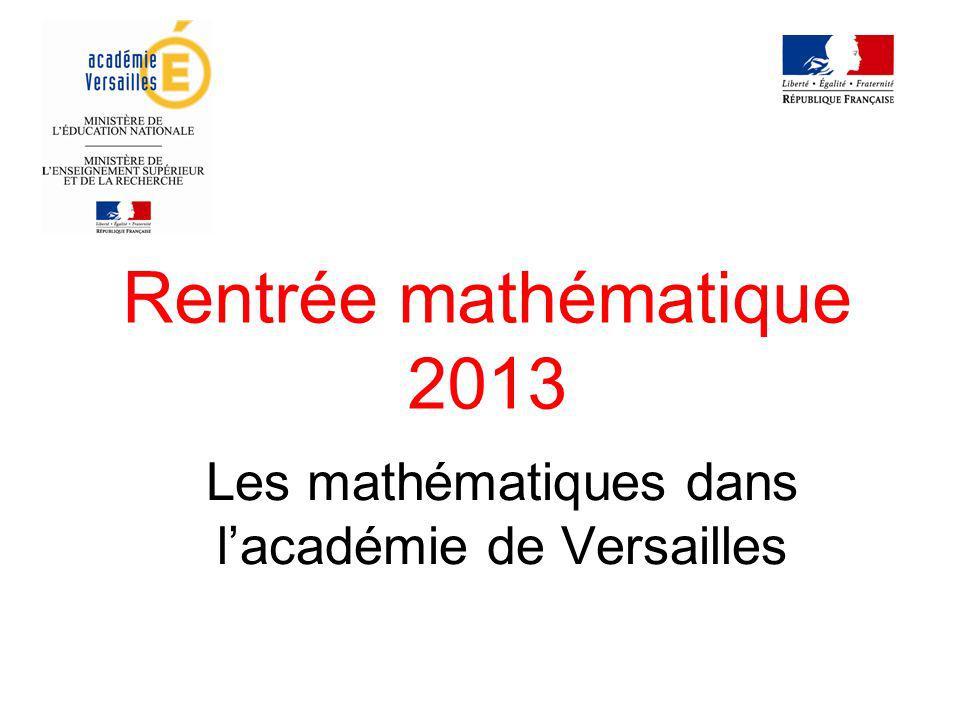 Les mathématiques dans l'académie de Versailles