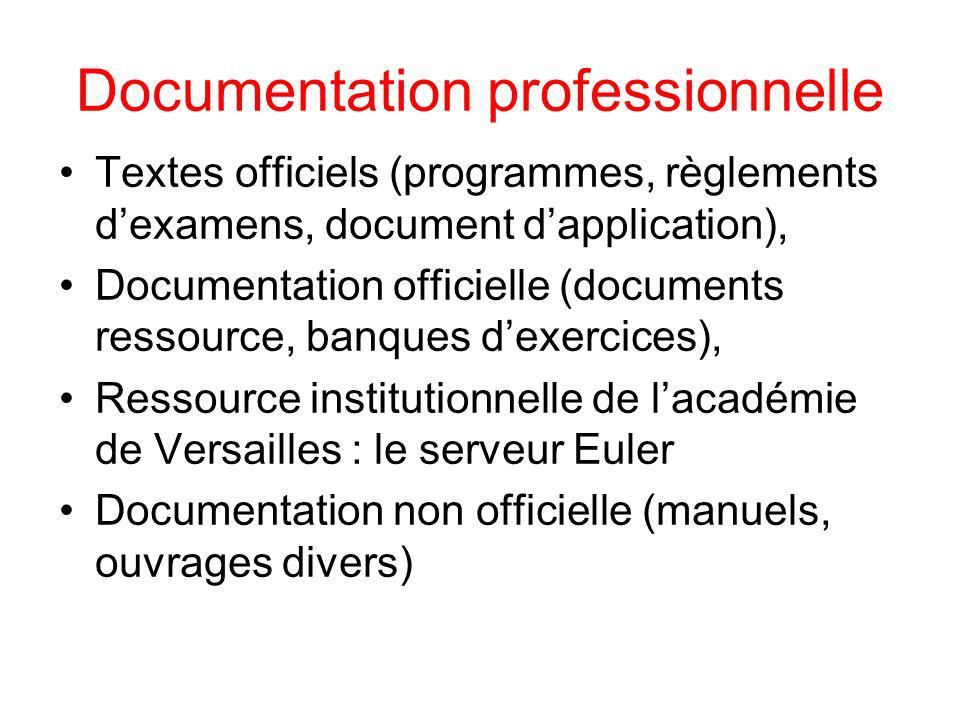 Documentation professionnelle