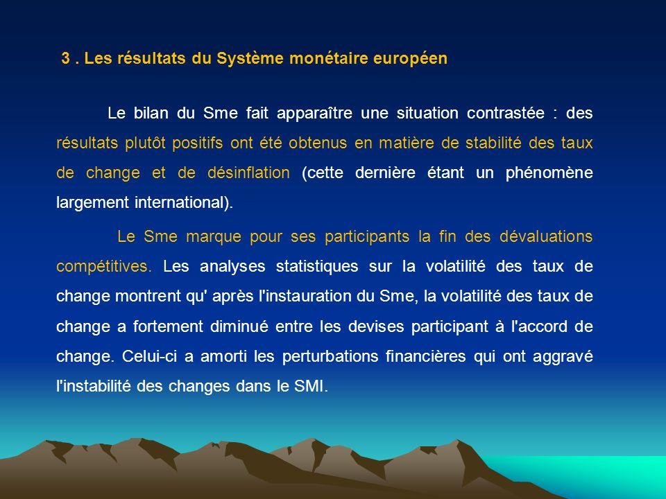 3 . Les résultats du Système monétaire européen