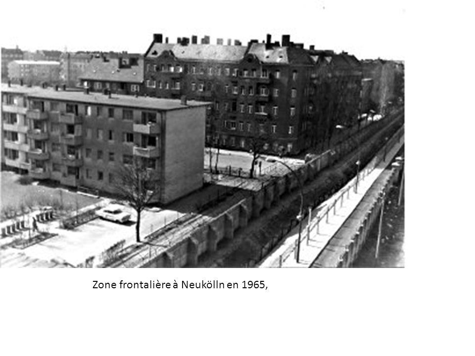 Zone frontalière à Neukölln en 1965,