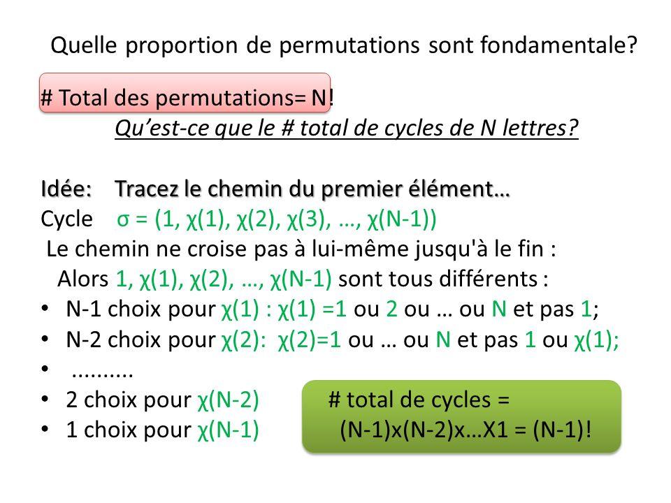 Quelle proportion de permutations sont fondamentale