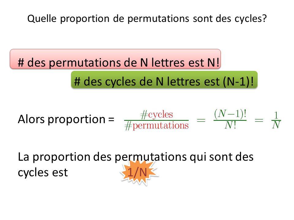 Quelle proportion de permutations sont des cycles