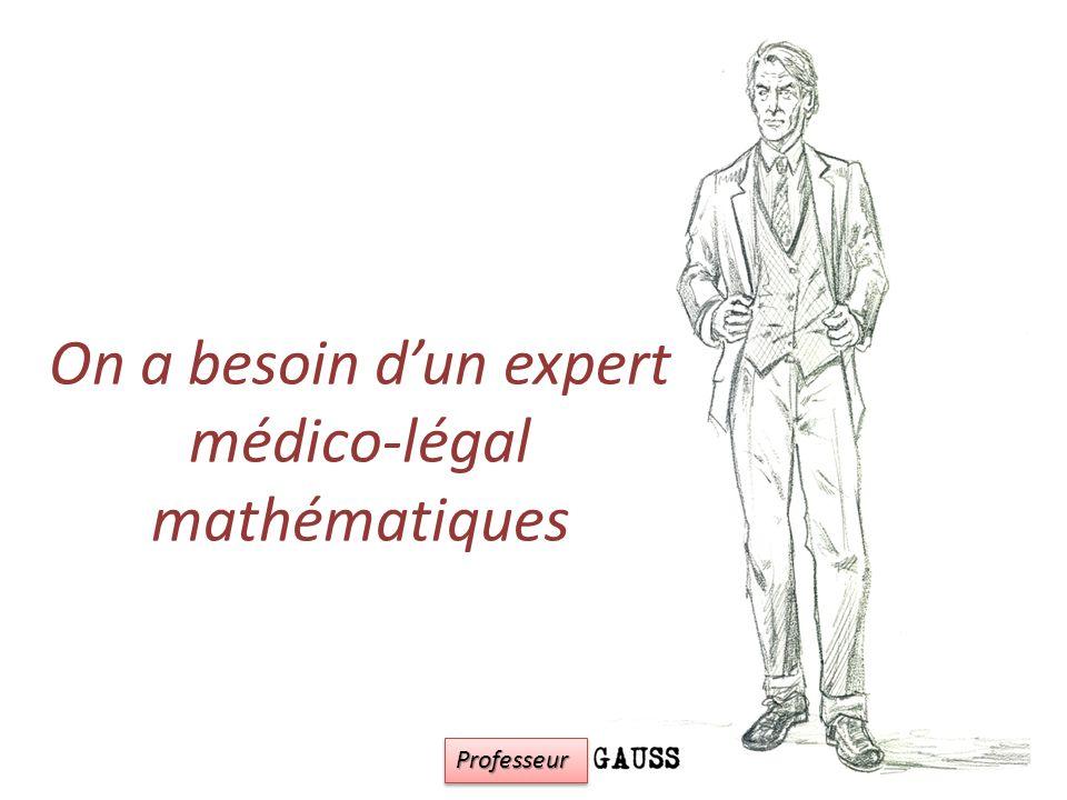 On a besoin d'un expert médico-légal mathématiques