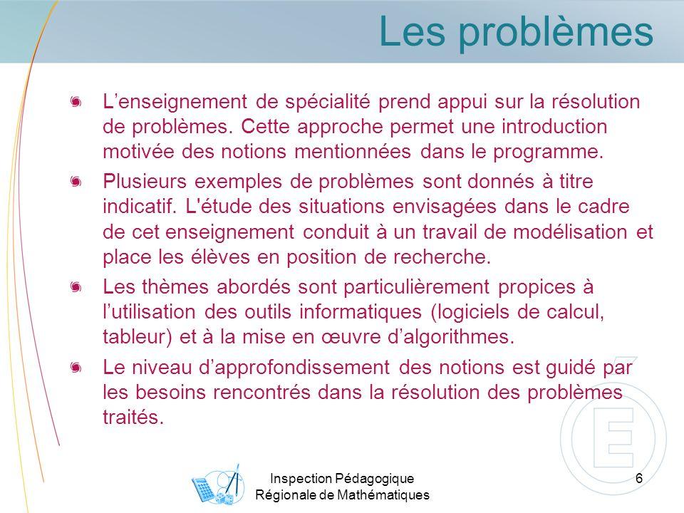 Inspection Pédagogique Régionale de Mathématiques