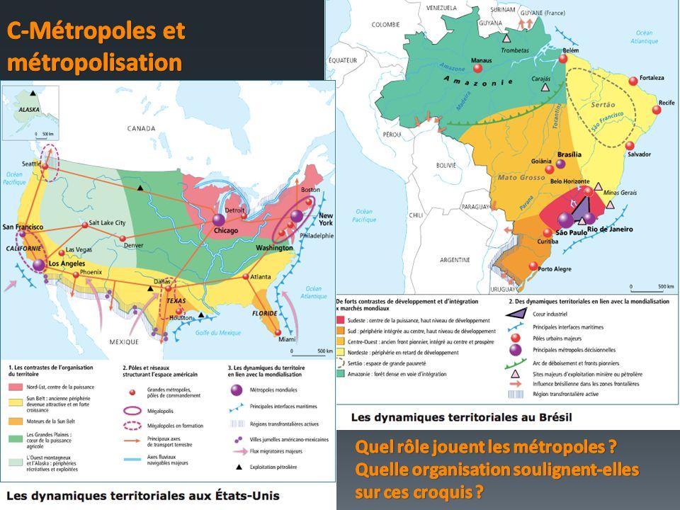 C-Métropoles et métropolisation