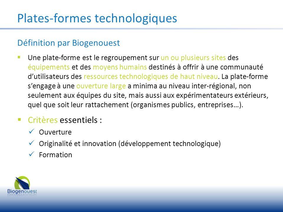 Plates-formes technologiques