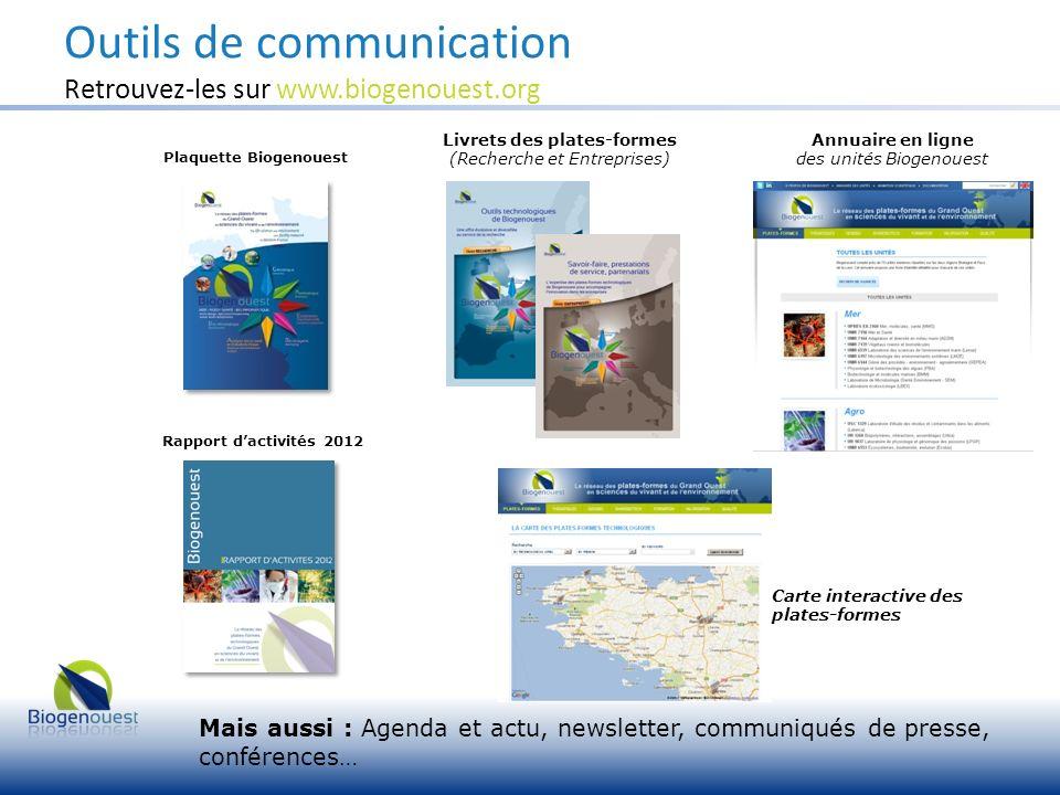 Outils de communication Retrouvez-les sur www.biogenouest.org