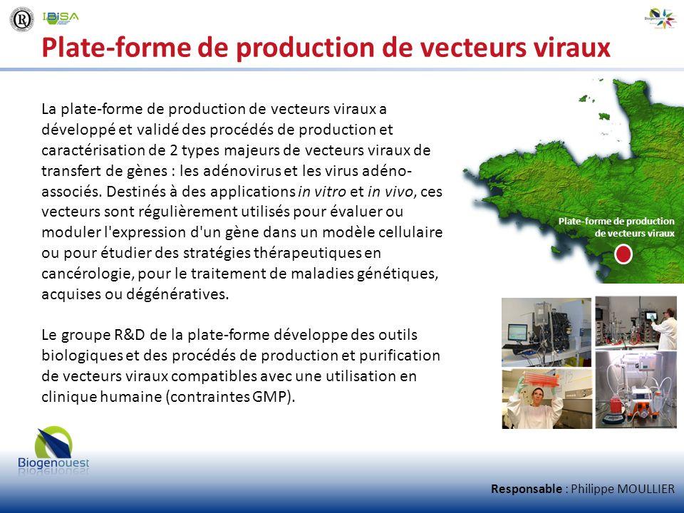 Plate-forme de production de vecteurs viraux