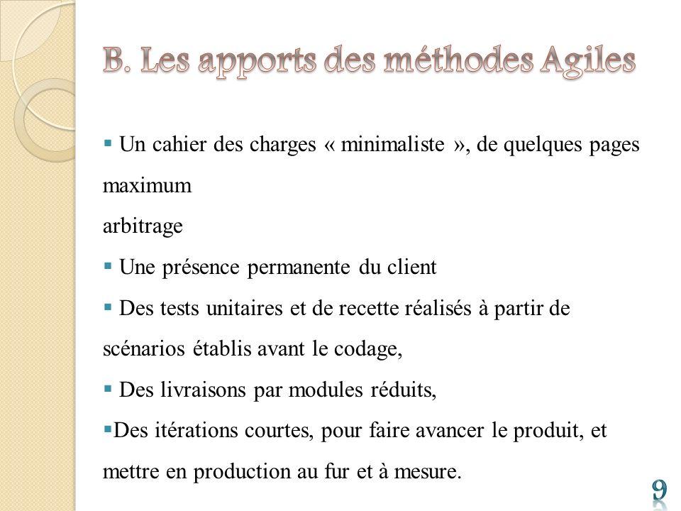 B. Les apports des méthodes Agiles