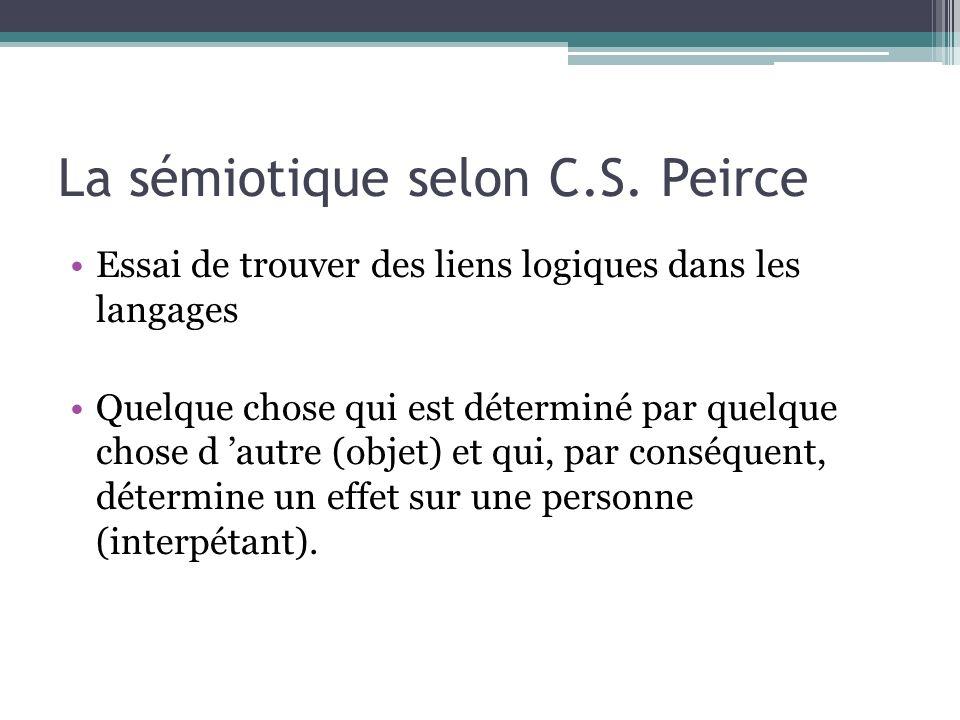 La sémiotique selon C.S. Peirce