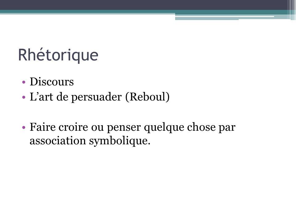 Rhétorique Discours L'art de persuader (Reboul)
