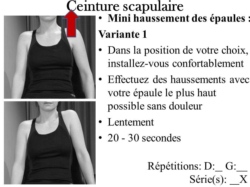 Ceinture scapulaire Mini haussement des épaules : Variante 1