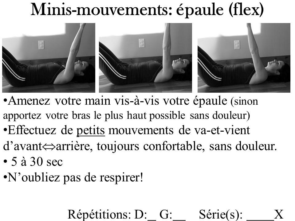 Minis-mouvements: épaule (flex)
